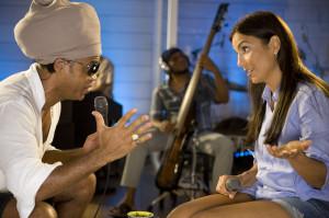Ivete e Brown no estúdio / Foto: Cacau Mangabeira