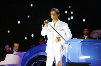 Roberto Carlos e o calhambeque azul / Foto: Divulgação TV Globo
