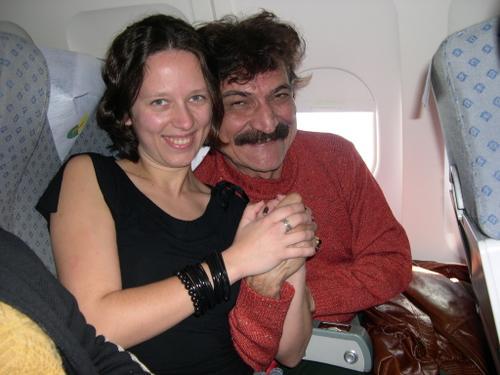 Eu e Belchior no avião / Foto de arquivo pessoal