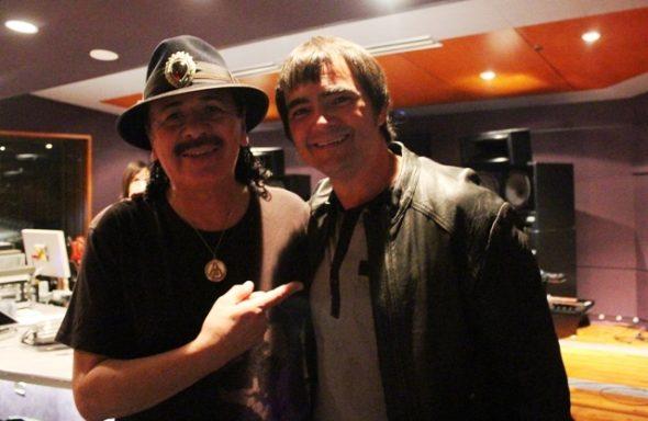 Carlos Santana e Samuel Rosa