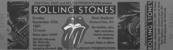 Ingresso Rolling Stones
