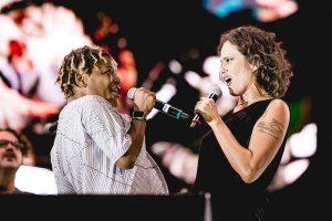 Mart'Nália e Zélia Duncan cantam para a amiga no Rock in Rio