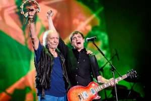 Erasmo Carlos e Samuel Rosa na abertura do Rock in Rio 2015 celebra os 30 anos