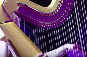 Rod Stewart e a harpista
