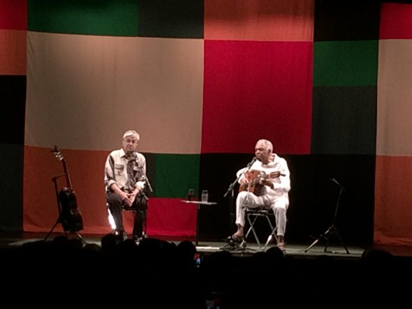 Caetano Veloso e Gilberto Gil no Circo Voador