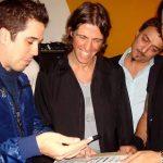 Rogério e Marco discutem o set list com Rafael Vila / Christina Fuscaldo
