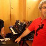 No estúdio em BH, Mario Breuer e Márcio Buzelin